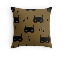 Seamless kids pattern with super hero mask Throw Pillow