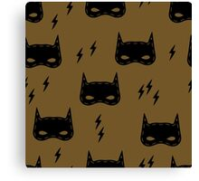 Seamless kids pattern with super hero mask Canvas Print