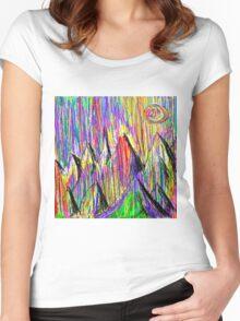 Colour Falls - Matt Texture 6 Women's Fitted Scoop T-Shirt