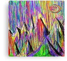 Colour Falls - Matt Texture 6 Canvas Print