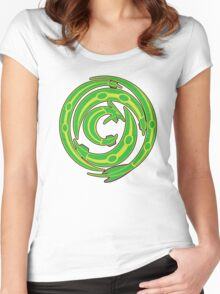 Rayquaza design Women's Fitted Scoop T-Shirt