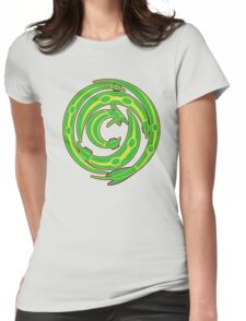 Rayquaza design Womens Fitted T-Shirt