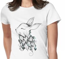 Poetic Rabbit  Womens Fitted T-Shirt