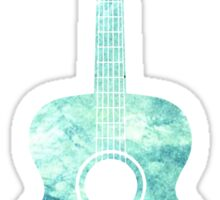 Watercolor Acoustic Guitar Sticker