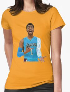 "Deangelo Russell ""ice in my veins"" Womens Fitted T-Shirt"