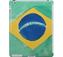 Brazil National Flag in Water Colors Green, Blue and Yellow iPad Case/Skin