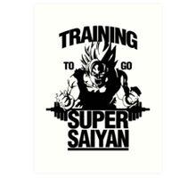 Super Training Saiyan Art Print