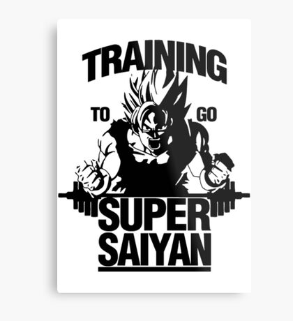 Super Training Saiyan Metal Print