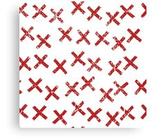Pattern with crosses Canvas Print