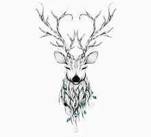 Poetic Deer Mens V-Neck T-Shirt