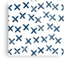 Pattern with crosses Metal Print