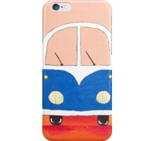 Blue bus iPhone Case/Skin