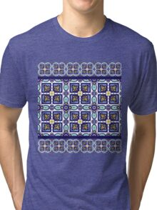 Blue ornament traditional Portuguese azulejos.  Tri-blend T-Shirt