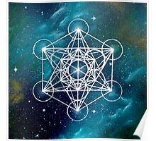 Metatrons Cube Sacred Geomtery Poster