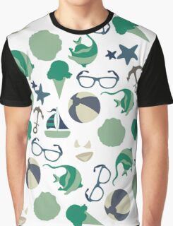 Beach Pattern Graphic T-Shirt