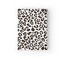 Black and white leopard Hardcover Journal