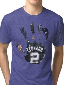 kawhi leonard hand Tri-blend T-Shirt