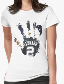 kawhi leonard hand Womens Fitted T-Shirt