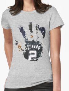 kawhi leonard hand Womens Fitted T-Shirt