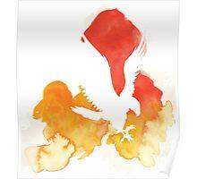 Watercolor Hawk Poster