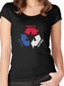 America Recycle  Women's Fitted Scoop T-Shirt