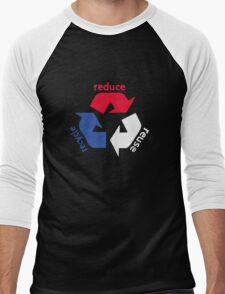 America Recycle  Men's Baseball ¾ T-Shirt