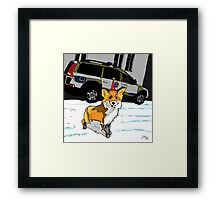 Fox n cops Framed Print