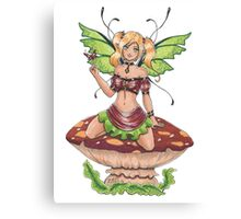 Toadstool Fairy Canvas Print