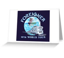 F- 78 WORLD TOUR Greeting Card
