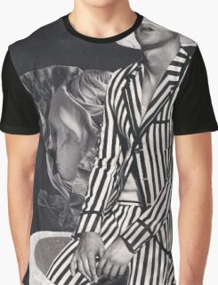 Black And White - Stripes Graphic T-Shirt