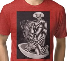 Black And White - Stripes Tri-blend T-Shirt