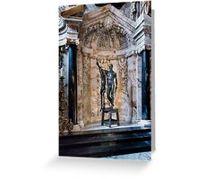 Chatsworth house- statu Greeting Card