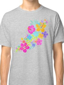Tropical Watercolor Flowers  Classic T-Shirt