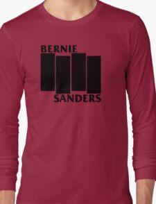 Bernie Sanders Black Flag Long Sleeve T-Shirt