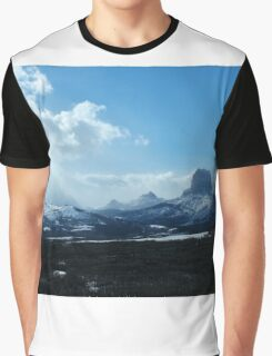 Chief Mountain, Winter Graphic T-Shirt