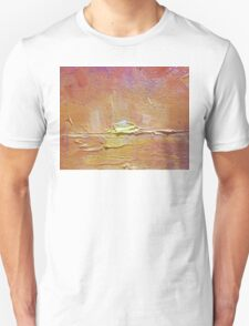 Sunset - Abstract Sun Setting Over The Ocean Unisex T-Shirt