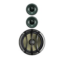 Massive Sound Bass Music Speaker Tee - White Cell Phone Cover Photographic Print