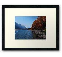 Fall Shoreline Framed Print