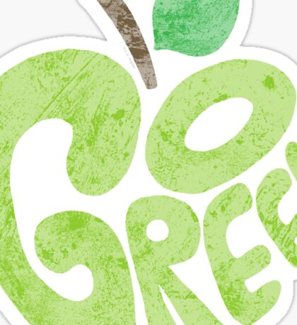 Go Green Apple Sticker