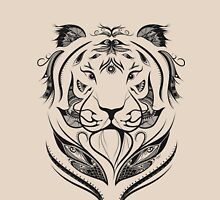 Tiger Plucked  Womens Fitted T-Shirt