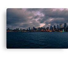Bainbridge Island ferry, Seattle, Washington Canvas Print