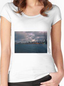 Bainbridge Island ferry, Seattle, Washington Women's Fitted Scoop T-Shirt