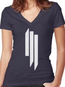 Skrillex - ill - White on Black Women's Fitted V-Neck T-Shirt