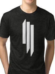 Skrillex - ill - White on Black Tri-blend T-Shirt