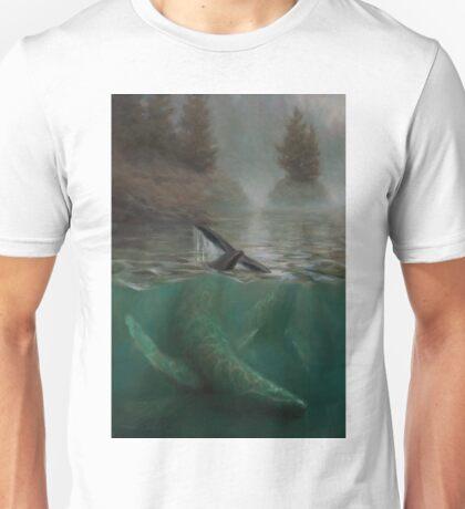 Humpback Whales - Underwater Marine - Coastal Alaska Painting Unisex T-Shirt