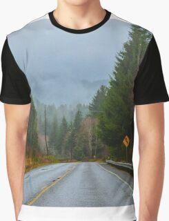 Burnt Mountain Road, Clallam County, Washington Graphic T-Shirt