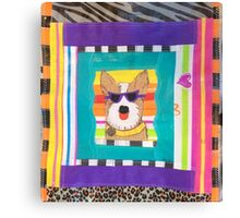 Cool Dog Gone Shopping  Canvas Print