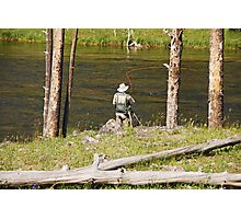 Fly fishing in Yellowstone Photographic Print