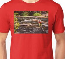Fly Fishing In Yellowstone - 2 Unisex T-Shirt