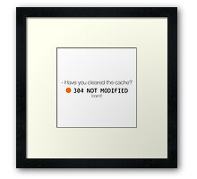Have you cleared the cache? Framed Print